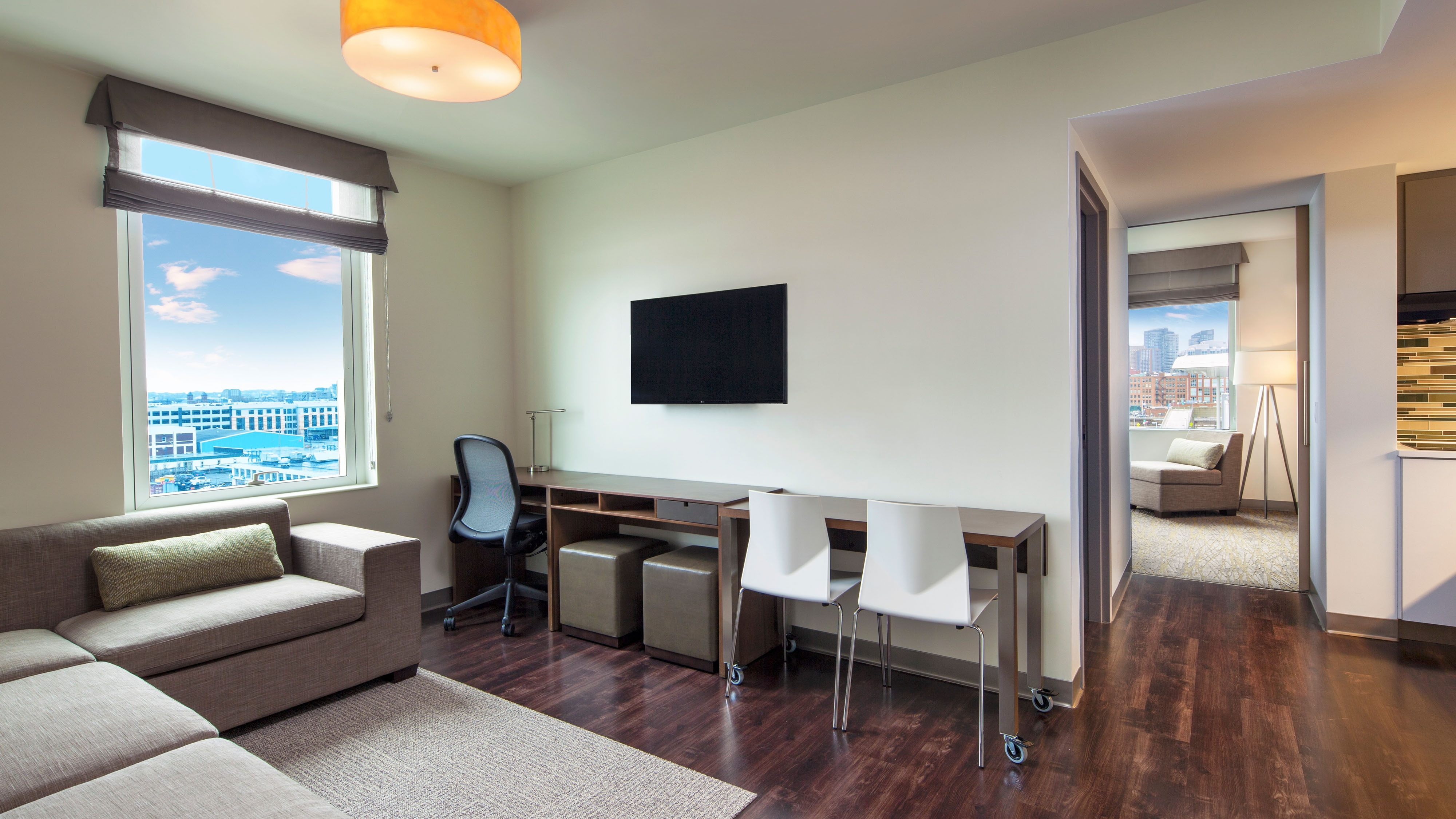 Book your stay with room to relax and spread out in our suites with separate sleeping and living space in the heart of Hampton Peninsula Town Center.
